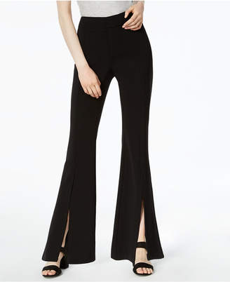 Bar III Split-Front Flare Pants, Created for Macy's