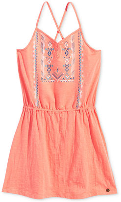 Roxy N'Ice Cream Crisscross Embroidered Cotton Boho Dress, Big Girls (7-16) $38 thestylecure.com