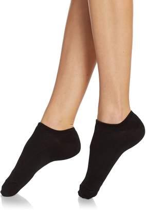 Hue Women's No-Show Lined Assorted Socks - Black, Size 9-11