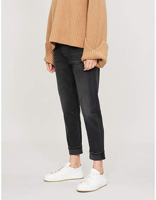 AG Jeans High-rise slim-fit boyfriend jeans