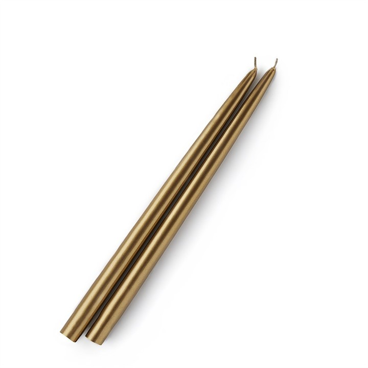 Williams-Sonoma Gold Taper Candles, Set of 2