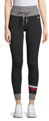 Tommy Hilfiger Drawstring High-Rise Leggings