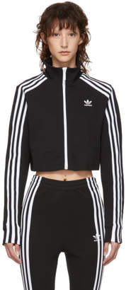 adidas Black Cropped Track Jacket