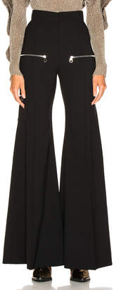 Chloé High Rise Zip Detail Flared Pants
