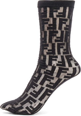 Fendi Logo Print Nylon Socks