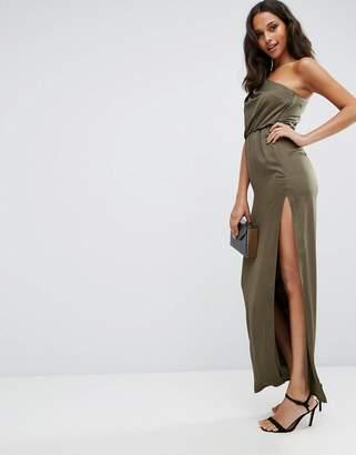 Asos One Shoulder Drape Maxi Dress