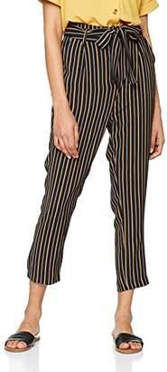 New Look Women's Honey Stripe Trousers,6/L32 (Manufacturer Size: 6)
