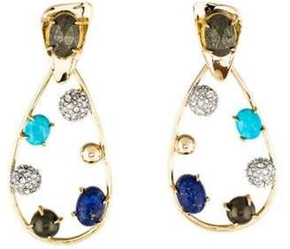 Alexis Bittar Multistone & Crystal Modernist Drop Earrings