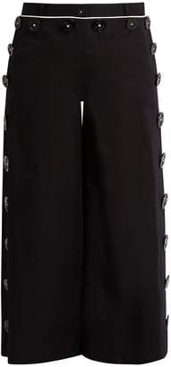 Dolce & Gabbana High-rise flared stretch-cotton culottes