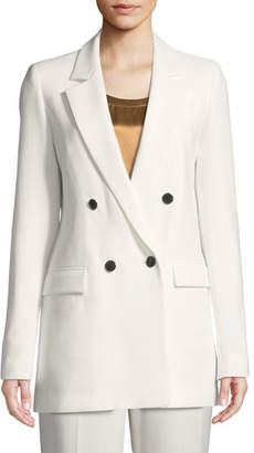 Lafayette 148 New York Britton Finesse Crepe Double-Breasted Jacket