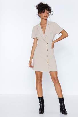 Nasty Gal Button Cloud Nine Blazer Dress