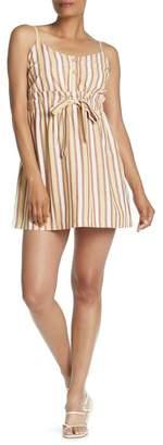 Lush Waist Tie Stripe Dress