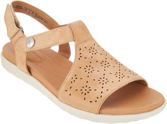 Clarks Leather T-Strap Sandals - Un Reisal Mae