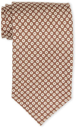 Tom Ford Brown & White Circle Silk Tie