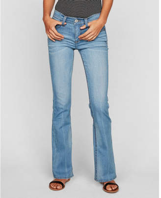 Express mid rise thick stitch stretch bootcut jeans
