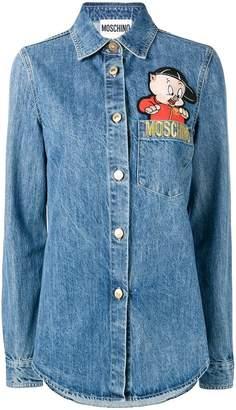 Moschino Porky Pig denim shirt