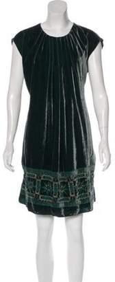 Anna Sui Velvet Sleeveless Dress Green Velvet Sleeveless Dress