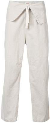 OSKLEN x Tarsila folded waistband straight leg trousers