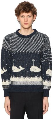 Whales Wool & Cotton Jacquard Sweater $480 thestylecure.com