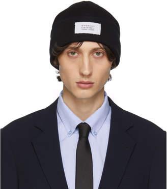 Givenchy Black Wool Beanie