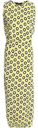 Moschino Polka-Dot Cotton Maxi Dress