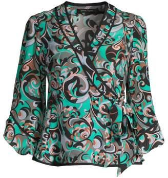 Nanette Lepore Silk Wrap Blouse