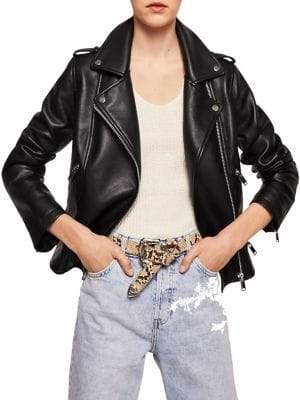 MANGO Liz Full-Zip Biker Jacket