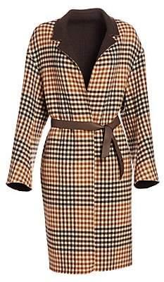 Loro Piana Women's Cowan Reversible Scotland Argyle Coat