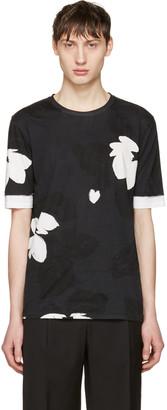 3.1 Phillip Lim Black Floral T-Shirt $175 thestylecure.com