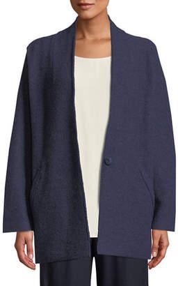 Eileen Fisher Lightweight Boiled Wool Kimono Jacket