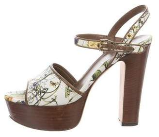Gucci Floral Platform Sandals