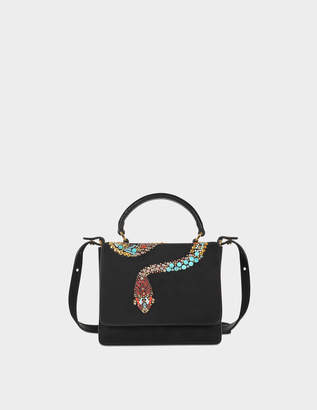 Roberto Cavalli Structured Top Handle Mini Bag