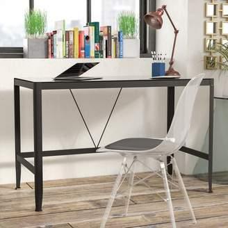 Ebern Designs Zapata Glass Writing Desk Ebern Designs