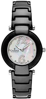 Charmex Dynasty 6272 35 mmセラミックケースブラックセラミック合成サファイアWomen 's Watch