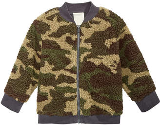 First Impressions Baby Boys Faux-Sherpa Camouflage Bomber Jacket
