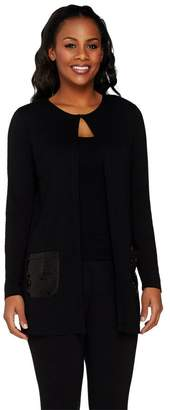 Joan Rivers Classics Collection Joan Rivers Jersey Knit Lightweight Cardigan with Sequin Pockets