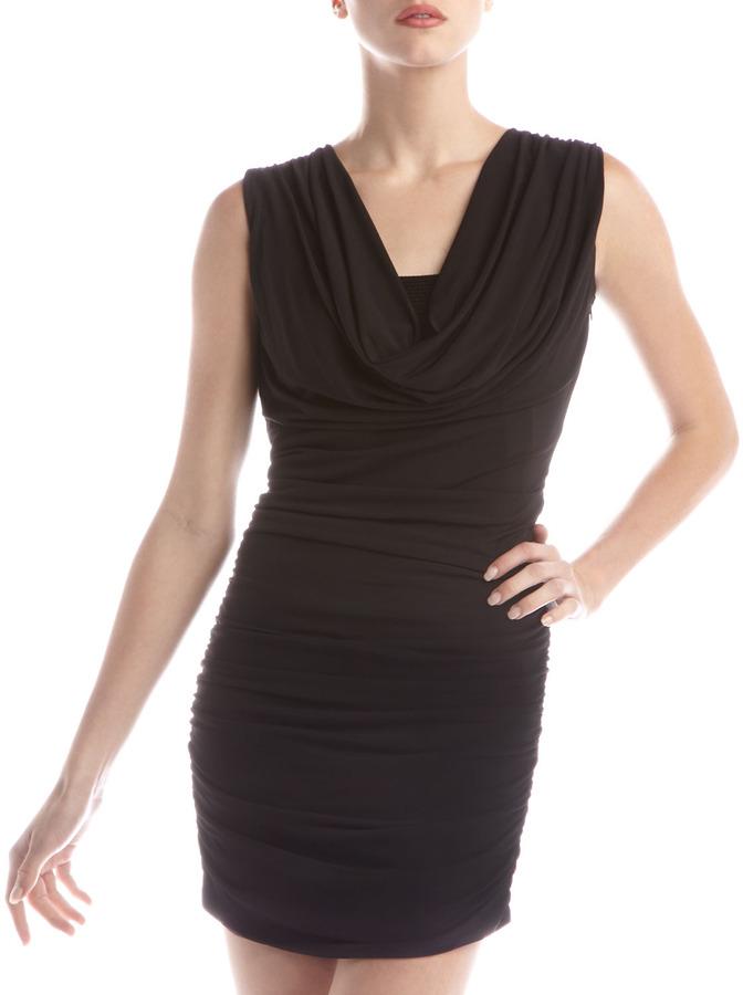 Laundry by Design Cowl-Neck Sequin Dress, Black
