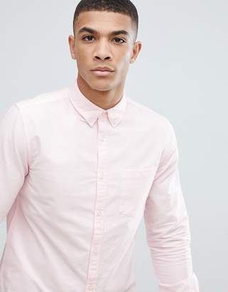 New Look Oxford Shirt In Regular Fit In Pink