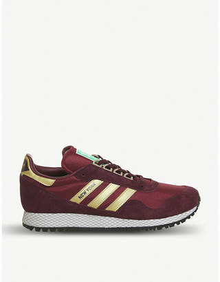 adidas New York mesh and suede trainers