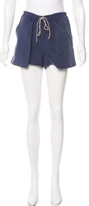 Tibi Colorblock Drawstring Shorts
