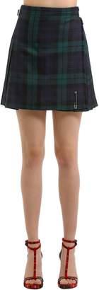 Black Watch Wool Plaid Skirt