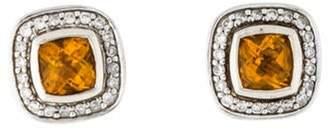 David Yurman Citrine & Diamond Petite Albion Stud Earrings silver Citrine & Diamond Petite Albion Stud Earrings