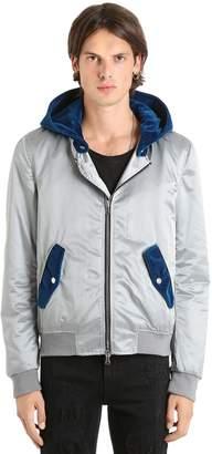 Nylon Bomber W/ Detachable Velvet Hood