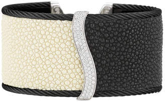 Alor Noir 18K & Stainless Steel 0.63 Ct. Tw. Diamond Bangle