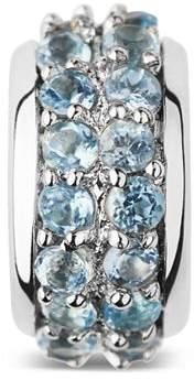 Links of London Sterling Silver Sweetie Pavé Blue Topaz Bead