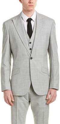 Reiss 3Pc Garda Classic Fit Wool Suit With Flat Front Pant