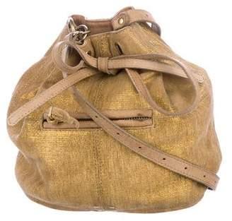 Jerome Dreyfuss Metallic Crossbody Bucket Bag