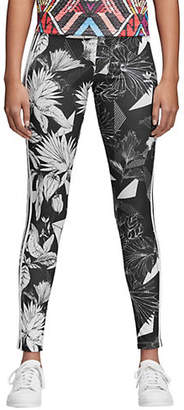 adidas Floral & Leopard Jersey Tights