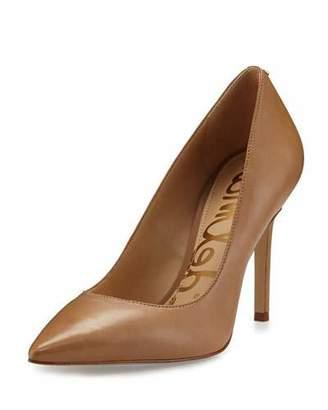 Sam Edelman Hazel Pointed-Toe Leather Pump, Golden Caramel $120 thestylecure.com