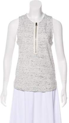 See by Chloe Sleeveless Zip-Front Top